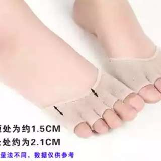 涼鞋魚口鞋用 露趾五趾襪