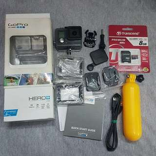 Gopro hero + plus lcd with accessories and box
