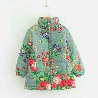 Girls Light Padded Floral Jacket!