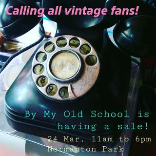 Vintage Sale this Sat 24 Mar!