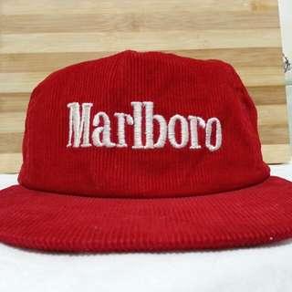 Marlboro Red curdoroy Cap Snapback