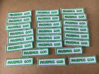 Fabric nametags for childcare , schools, office