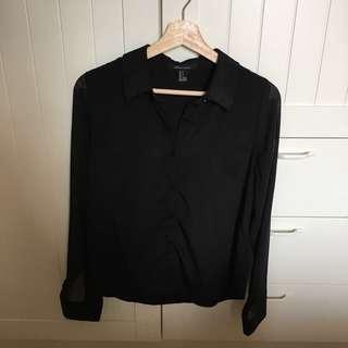 Forever 21 Black Shirt (099)