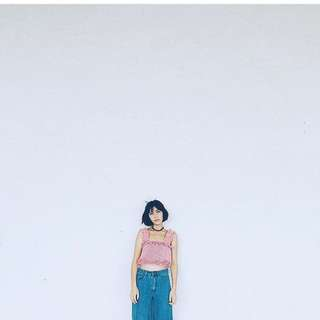 可愛格子短版上衣