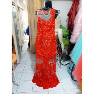 Red longdress