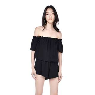 TEM Editors Market MELVA OFF-SHOULDER ROMPER