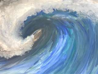 """""""Waves"""" canvas painting"""