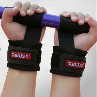 【安琪館】Wrist protec(1 pair)  Aolikes 原廠正品 運動護腕 握力帶護腕 拉力帶 護腕 防滑 加厚 透氣 健身房 舉重
