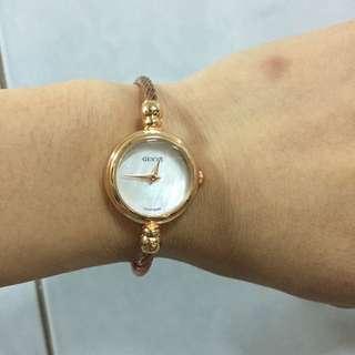 GUCCI 玫瑰金手錶