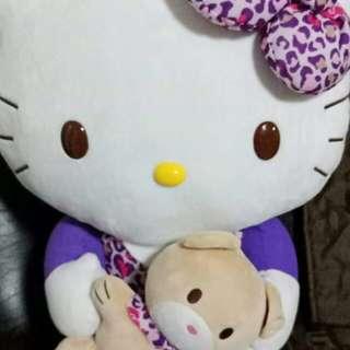 Hello kitty plush leopard