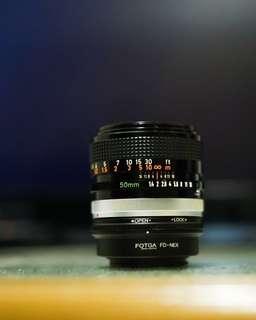 50mm f1.4 Canon Fd