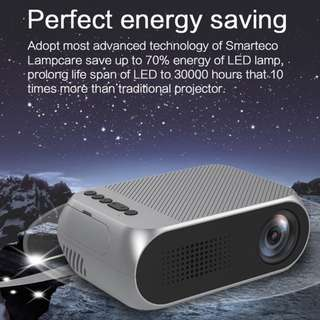 YG320 Mini Portable Projector LED 400 Lumens 320 x 240P with Built-in Speaker Support 1080P TF Card