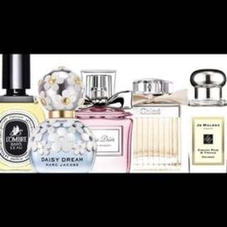 徵收各式各樣各種香水空瓶