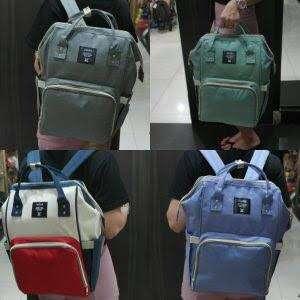 Tas Anello Backpack Diaper Bag / Diapers Bag Bayi Light Grey Premium Ori