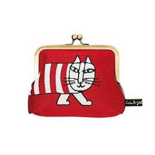 日本《🔖設計款》丸眞 Lisa larson口金收納包 零錢包(紅/藍)