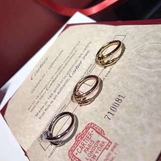 面交 Cartier 卡地亞經典釘子戒指  情侶款 金色 銀色 玫瑰金