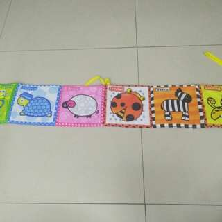 Baby bed cloth book with 2 side
