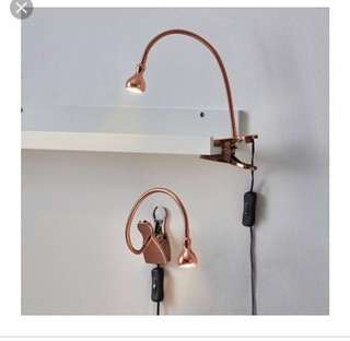 Ikea Jansjo LED Wall/Clamp Spotlight, Copper (40cm)