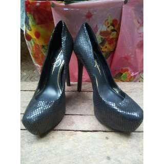 authentic jessica simpson snakeskin shoes heels no box