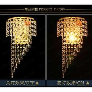 晶 壁燈 (附燈泡) 床頭 壁燈 臥室 玄關 走道 更衣室 歐式奢華水晶壁燈 LED 高貴 E14拉尾燈泡 尖尾燈泡