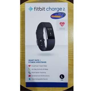 全新 Fitbit Charge 2 健康手帶 黑色
