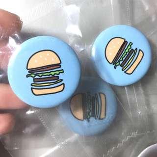 一圈 漢堡徽章