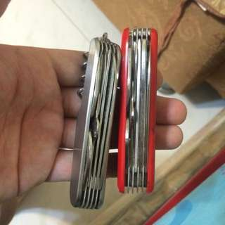 Swiss Army knife 1 for $10, both for $15