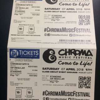 VIP CHROMA MUSIC FESTIVAL 2018 TICKET
