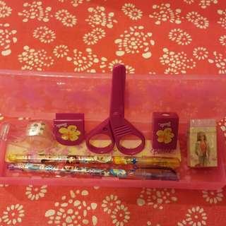 Barbie 文具筆盒套裝 8件(正版)