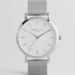 Rosefield Watch in Silver Mesh (inspired piece)