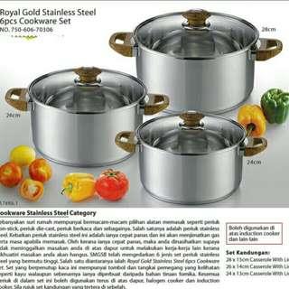Royal Gold 6pcs Cookware Set