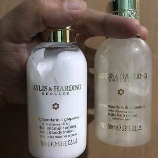 (Baylis & Harding England) Hand & Body Lotion and Bath Creme