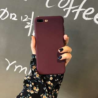 Red Wine Silicon Case for iPhone 6 up to X