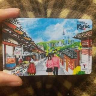 【包郵】全新韓國特別版t-money卡
