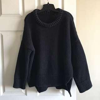 Zara🖤black over-sized sweater