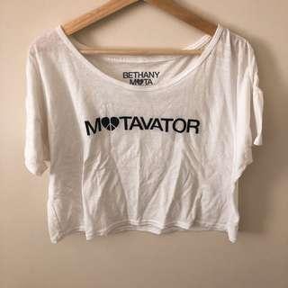 Bethany Mota-motavator crop tshirt