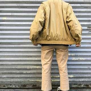 古著黃色風衣外套