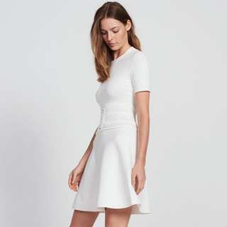 Sandro Corset Waist Elegant White Dress
