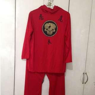 Halloween Red Ninja Costume