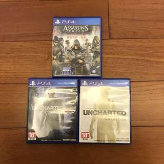 PS4 遊戲片 刺客教條 Uncharted 密境探險