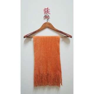 [KOREA]橘子毛毛圍巾☻