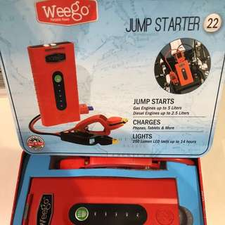 Weego 22 high performance jumpstarter 22 from US