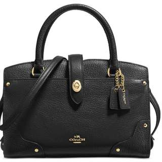 Coach 37779 Mercer 24 Grain Pebble Leather Satchel