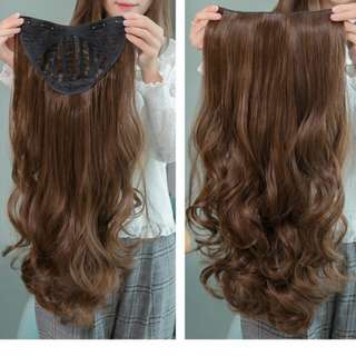 PO korean U shape wavy clip on ladies wig *waiting time 12 days after payment is made *pm to order