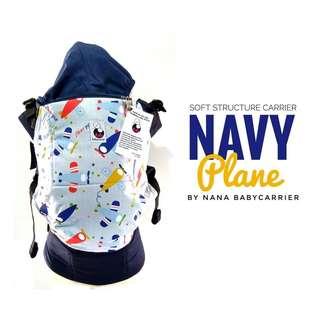 [STANDARD] Nana Baby Carrier - Navy Planes ($75)