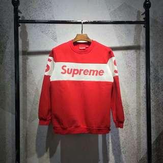 Supreme 拼接加絨衛衣