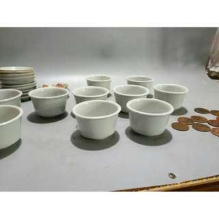 晚清白瓷杯 寬6.7cm 高4.3cm 全品 可喝茶