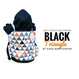 [TODDLER] Nana Baby Carrier - Black Triangles ($95)