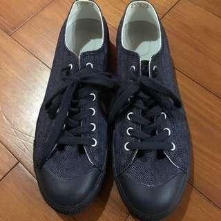 無印 牛仔藍 帆布鞋