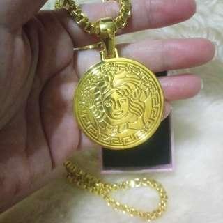 🌰土豪金色圓牌項鍊